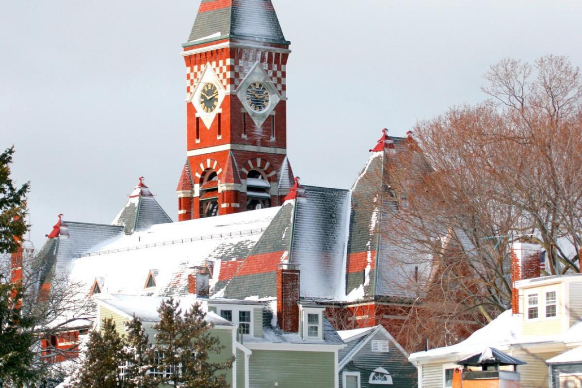 """Snowfall on Abbot Hall"" (Photo by Rob Kipp)"