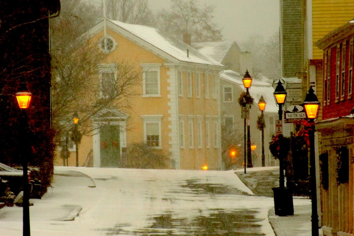 """Light Snow Falls on Marblehead"" (Photo by Rob Kipp)"