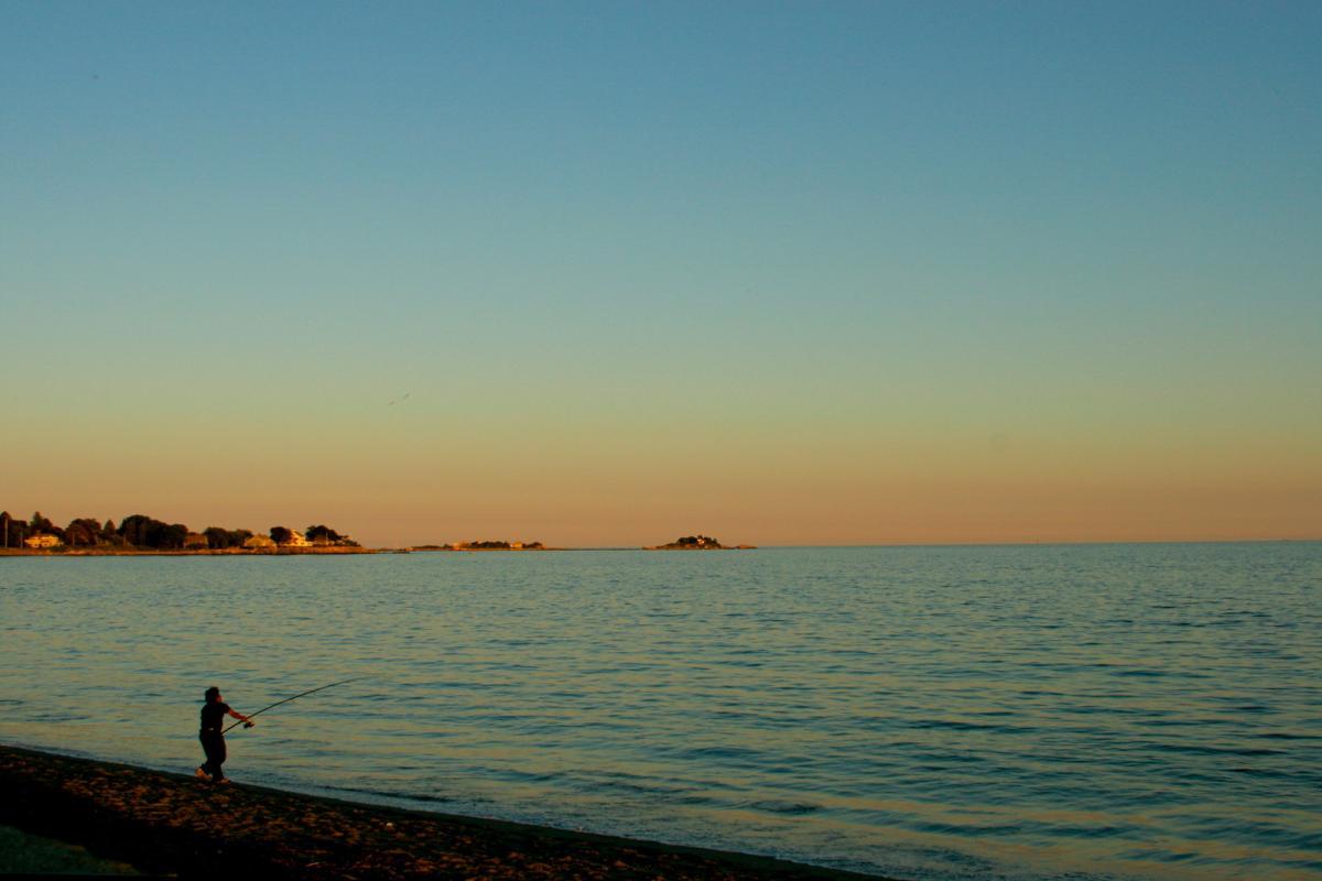 """""""Fisherman on Devereux"""" (Photo by Rob Kipp)"""